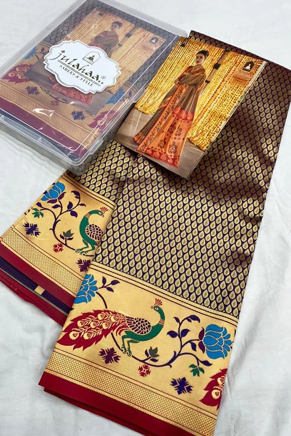 Marathi wedding paithani saree.