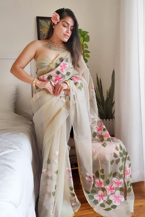 Modern Designer saree for wedding Reception