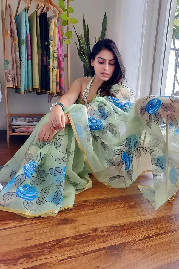 Modern Designer saree for wedding