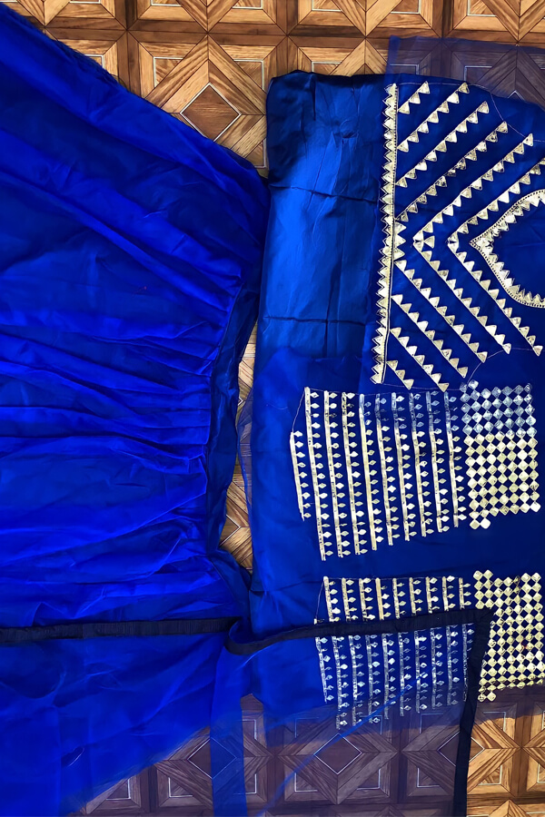 Neha kakkar blue lehenga Indian Idol 12