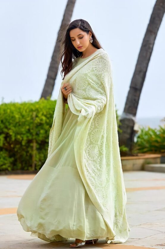 Nora fatehi dress online shopping gown 2021