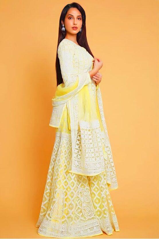 Nora fatehi in Indian dress online Shopping