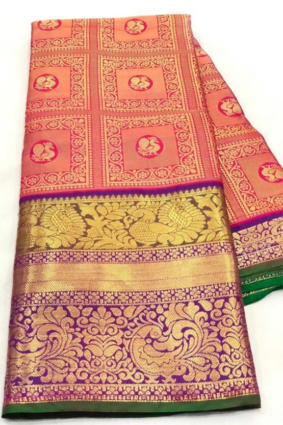 Original kanchipuram silk sarees with price 2021 red