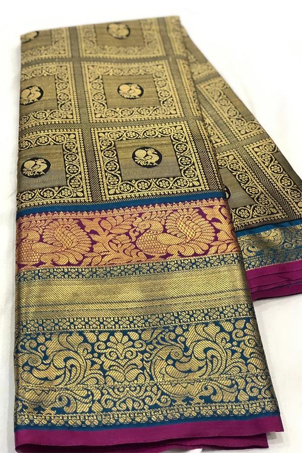 Original kanchipuram silk sarees with price 2021 yellow