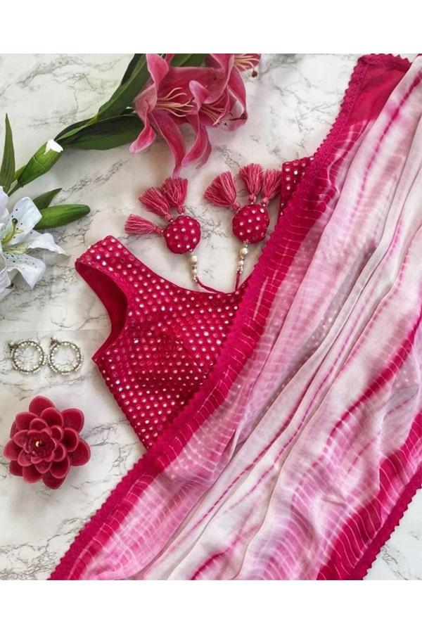 Palak Sindhwani saree Buy online pink