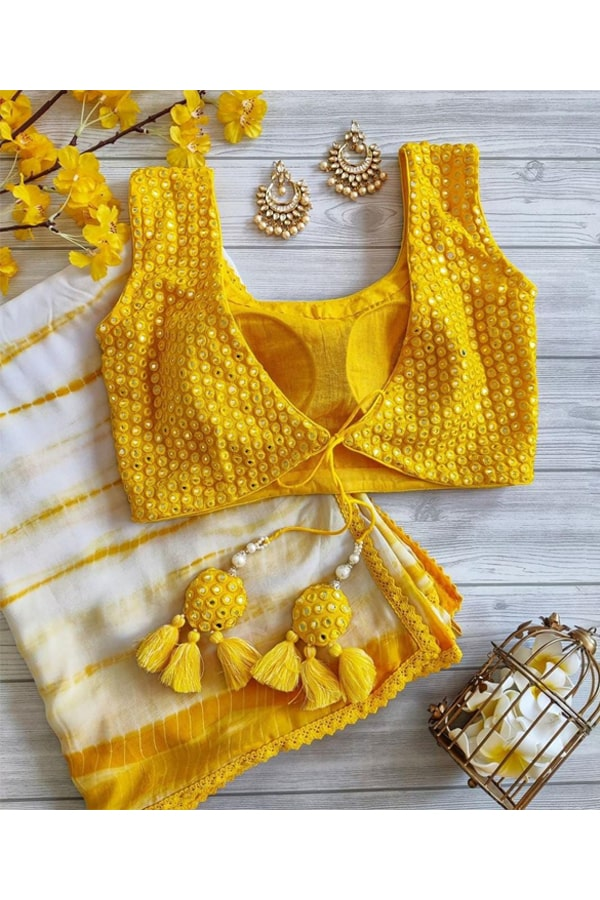 Palak Sindhwani yellow saree buy.
