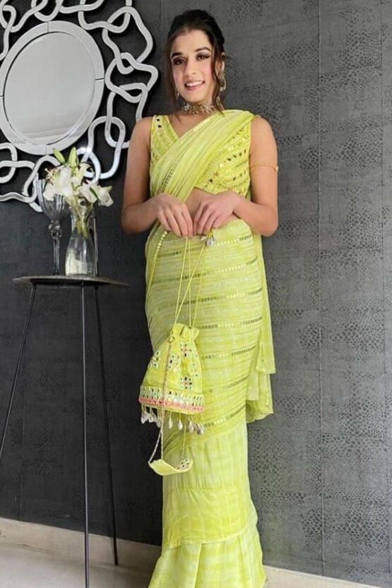 Party wear latest saree design 2021.