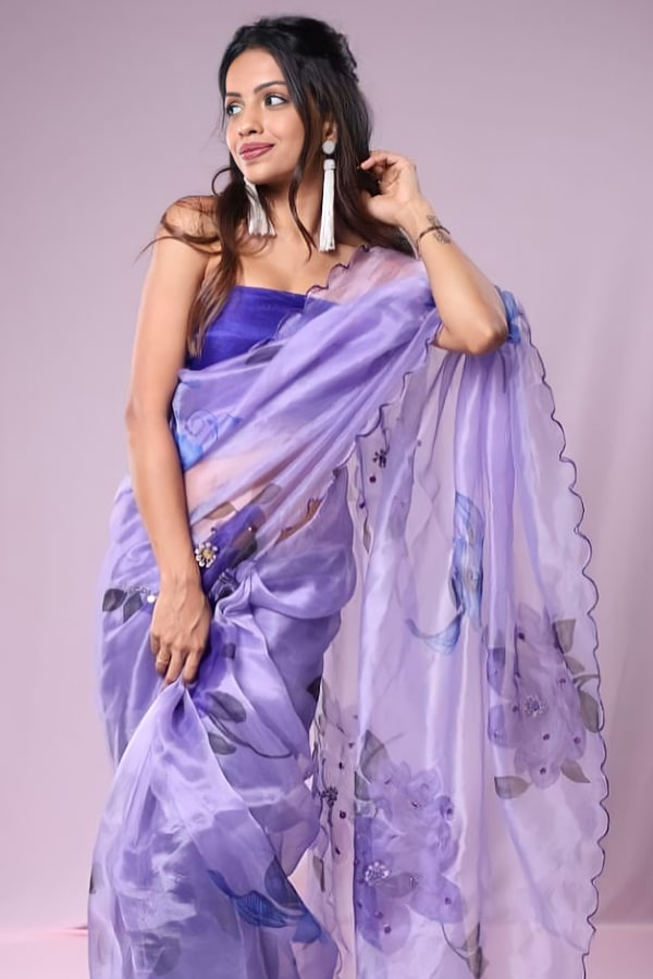 Party wear saree for unmarried girl 2021 latest