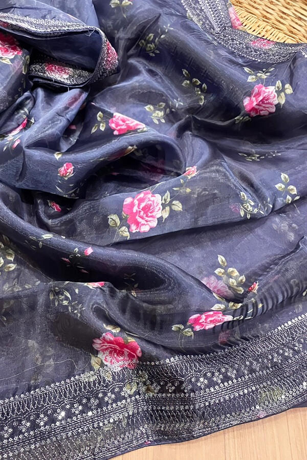 Party wear saree for unmarried girl Black 2021