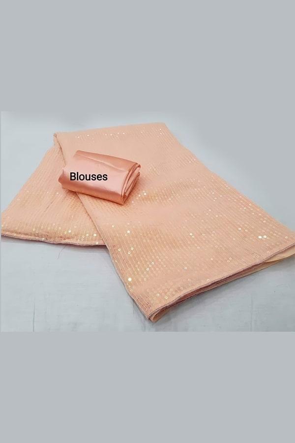 Party wear sequence work saree 2021 orange