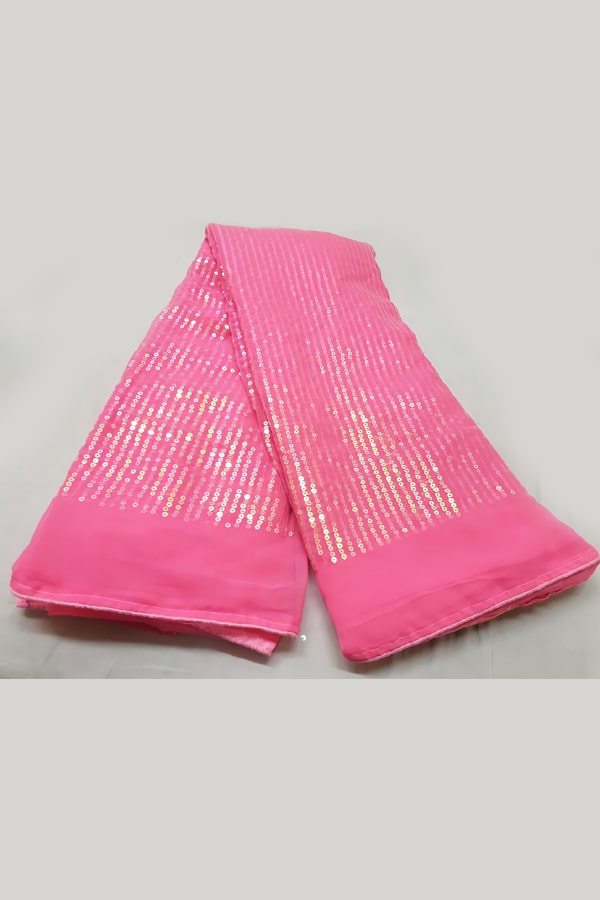 Party wear sequence work saree 2021 pink