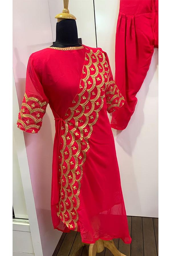 Patiala Red punjabi suit Latest design