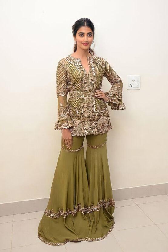 Pooja Hegde Sharara dress Online shopping