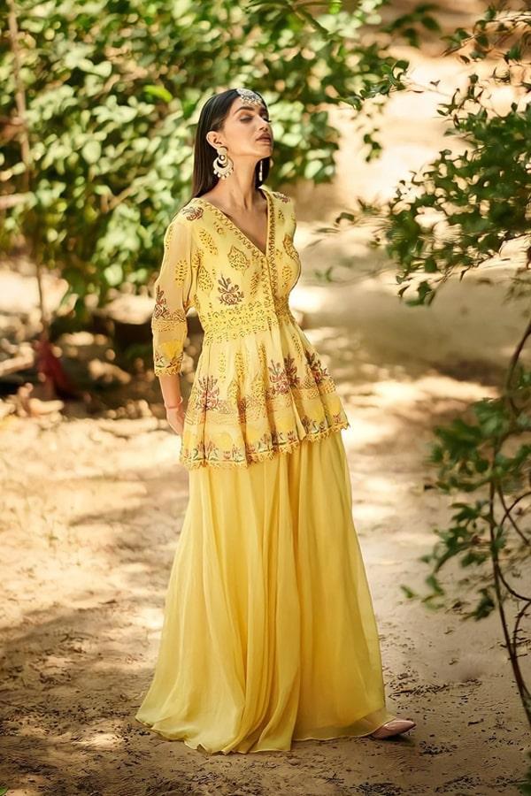 Punjabi Sharara suit design 2021