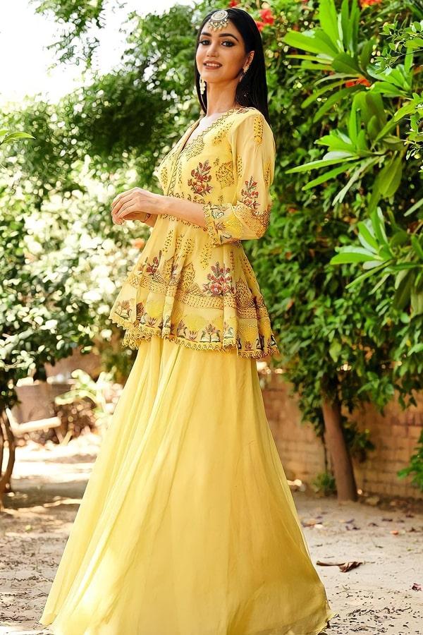 Punjabi Sharara suit design 2021 Pinterest new
