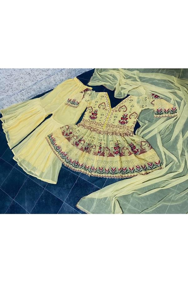 Punjabi Sharara suit design yelliow new