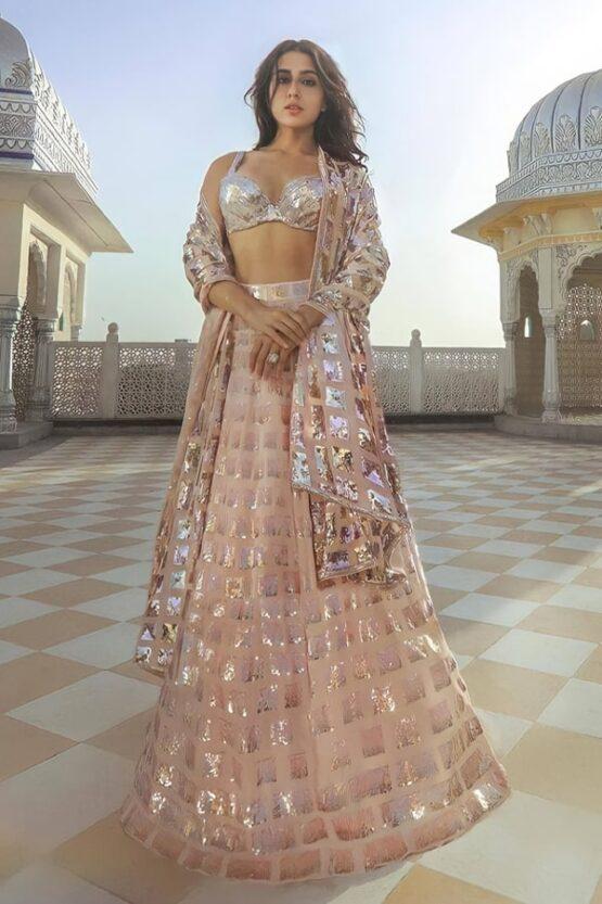 Sara ali khan in Manish Malhotra lehenga online 2021