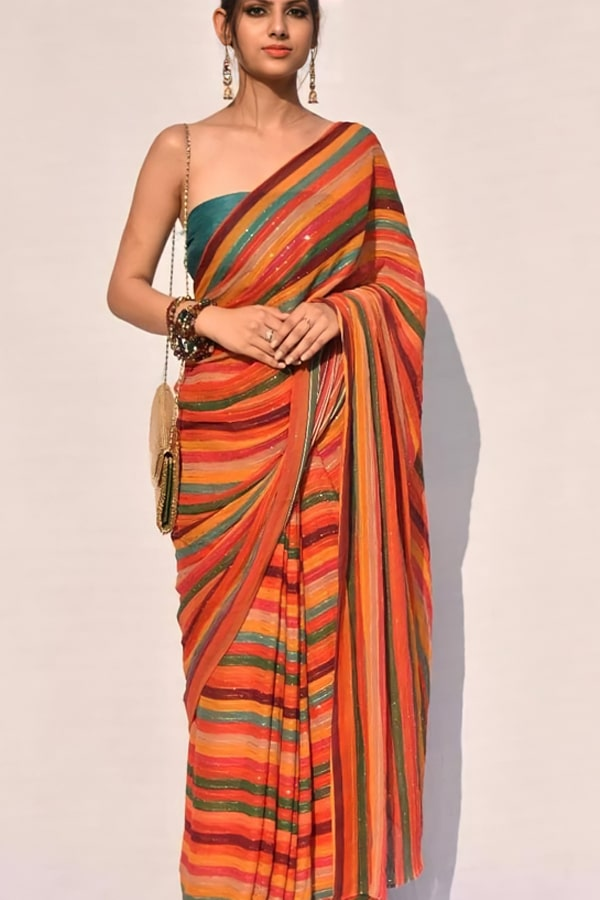 Saree for girls farewell party in School College