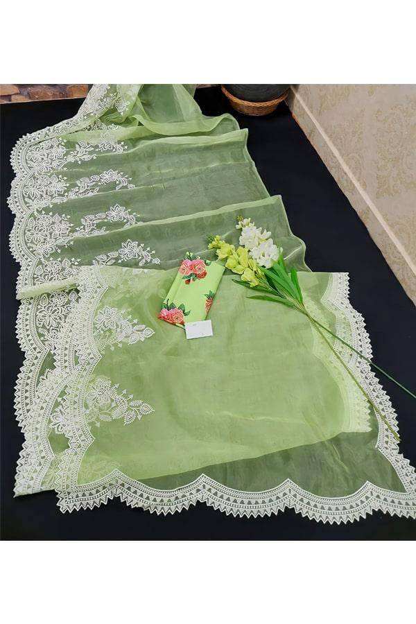 Shershaah promotion Kiara advani green saree buy (2)