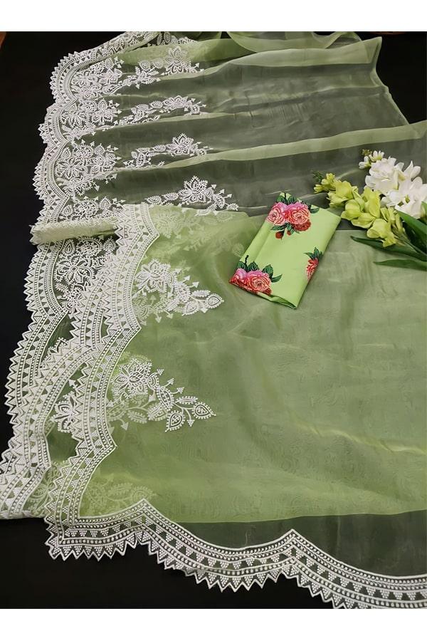 Shershaah promotion Kiara advani green saree buy online