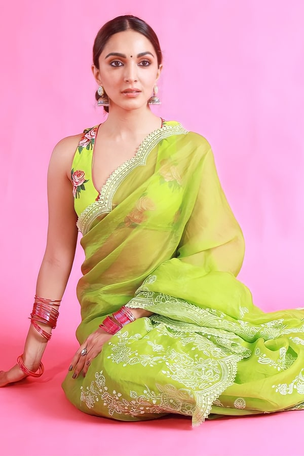 Shershaah promotion Kiara advani green saree buy