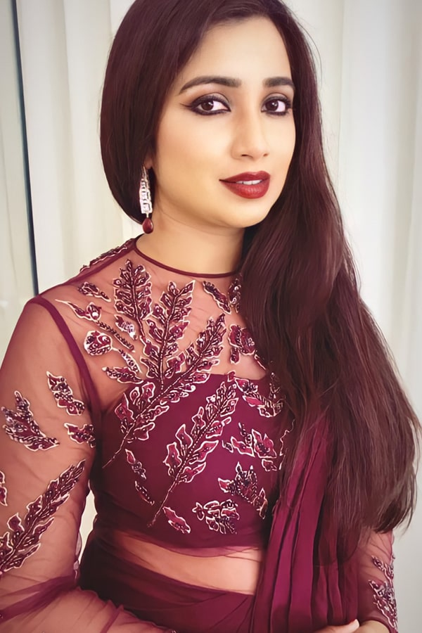 Shreya Ghosal in Georgette saree Ready to wear 2021