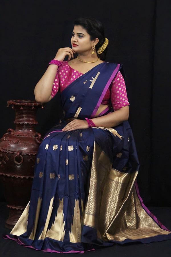 Soft kesari silk sarees for Wedding (2)