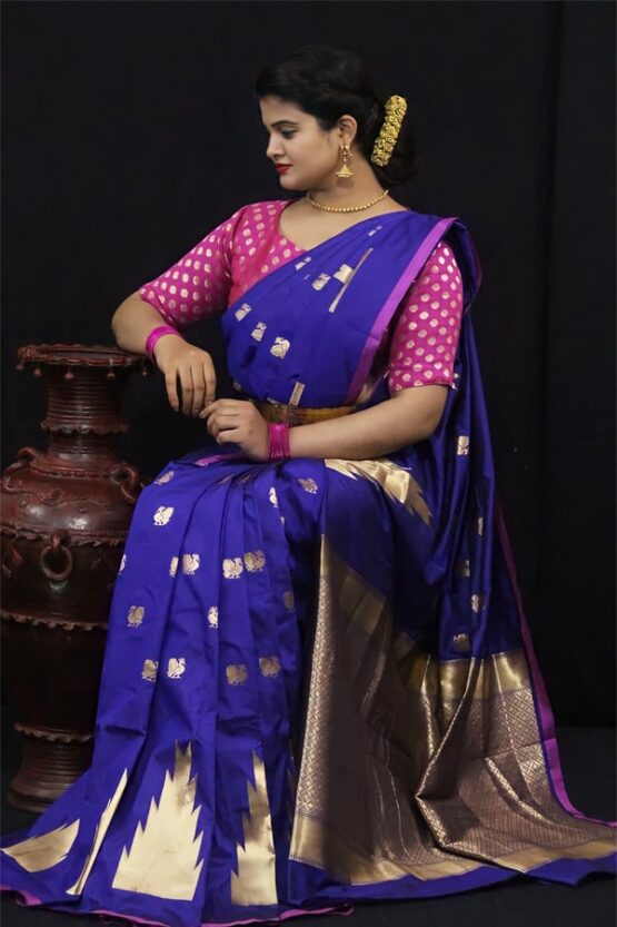 Soft kesari silk sarees for Wedding 2021