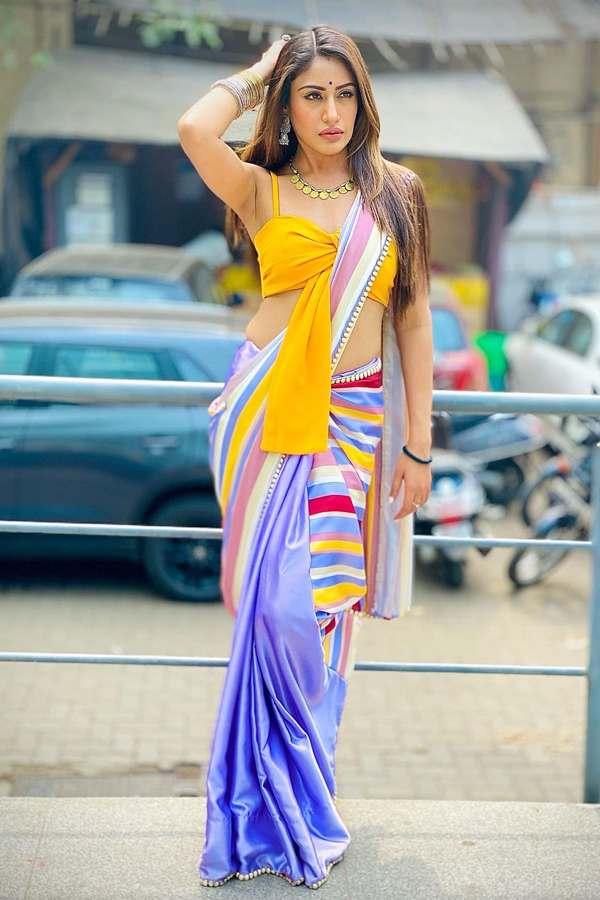 Surbhi chandna saree online shopping