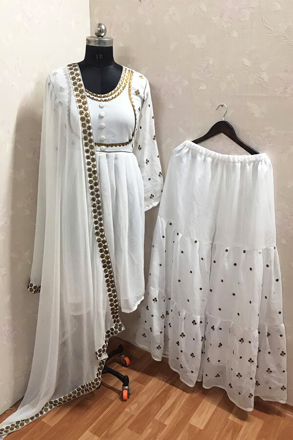 Taapsee pannu white dress Sharara suit buy online