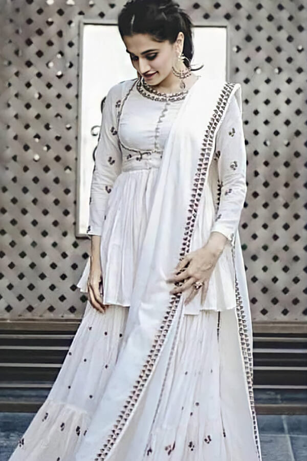 Taapsee pannu white dress Sharara suit online