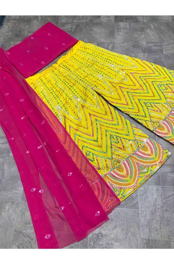 Yankita kapoor sharara plazzo suit Online shopping