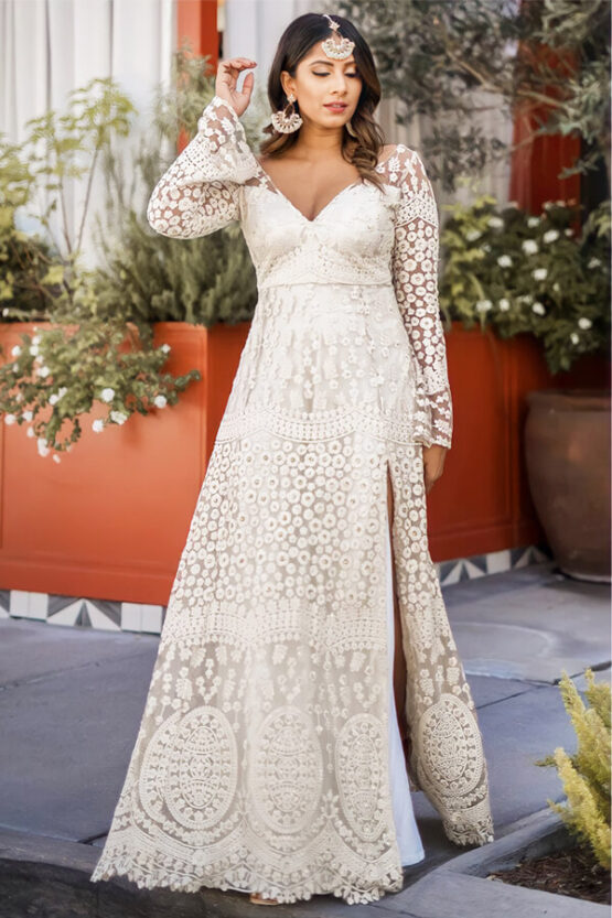 indian evening gowns for wedding reception online 2021