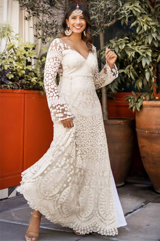 indian evening gowns for wedding reception online