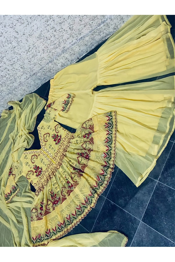 latest Punjabi Sharara suit design 2021 Pinterest
