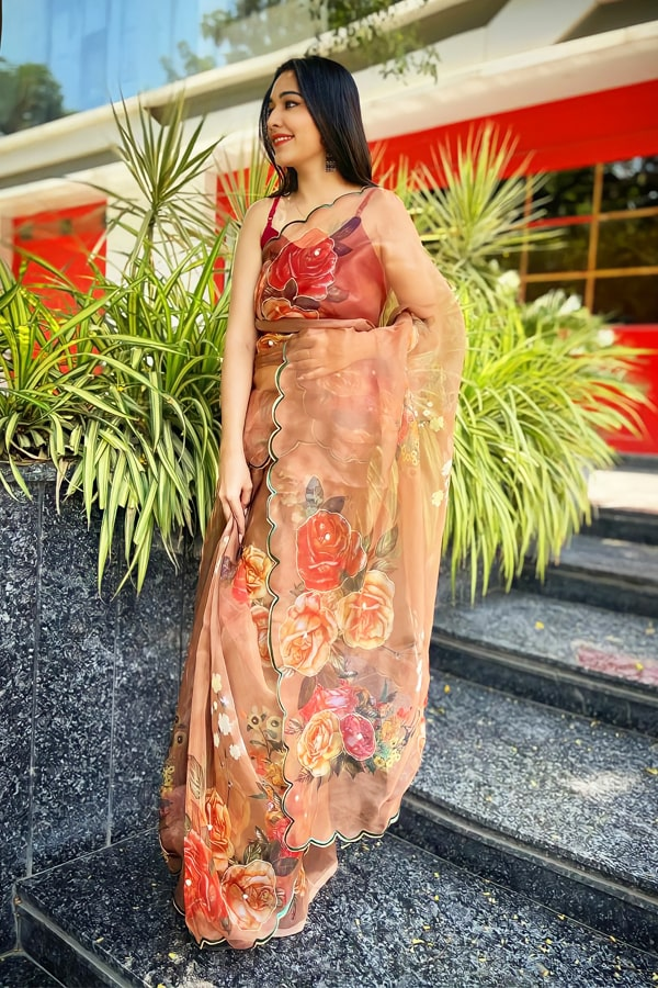 party wear saree for unmarried girl 2021