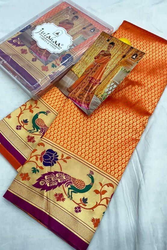 wedding marathi nauvari saree.