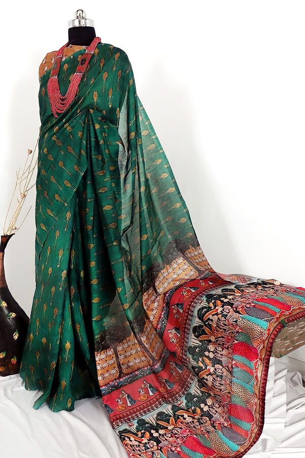 Cotton linen saree online india for girls.