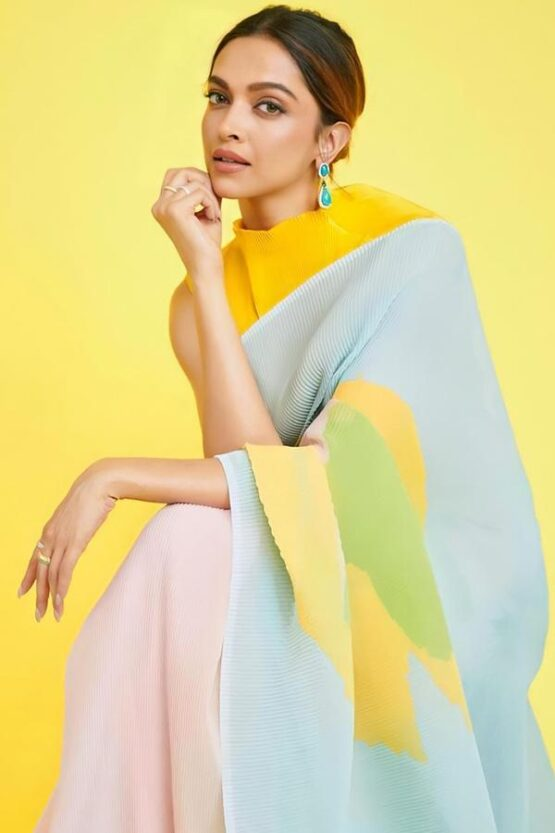 Deepika Padukone Yellow Saree KBC buy