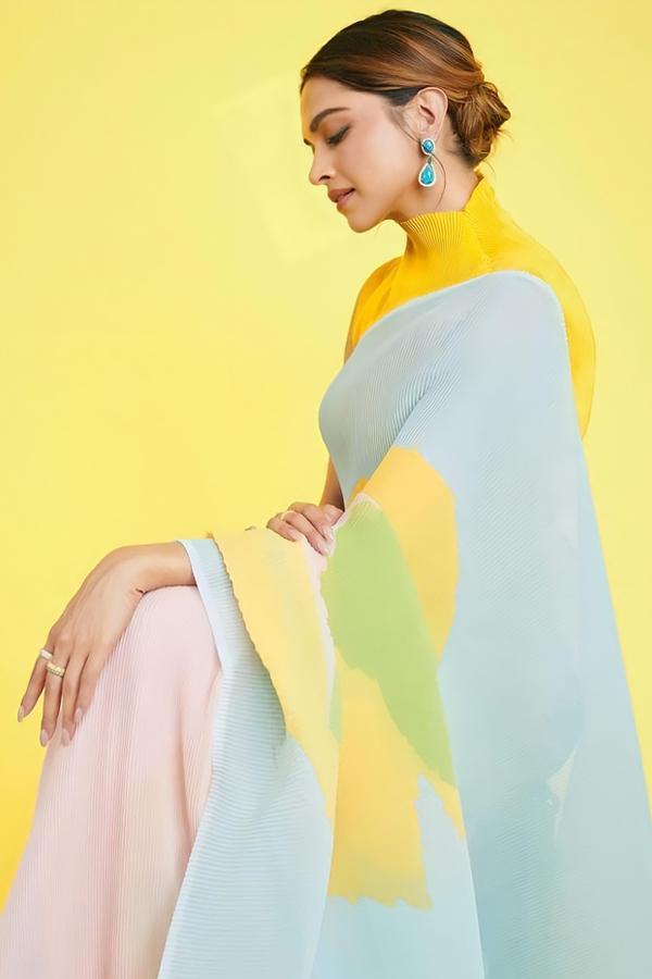 Deepika Padukone Yellow Saree KBC online Shopping