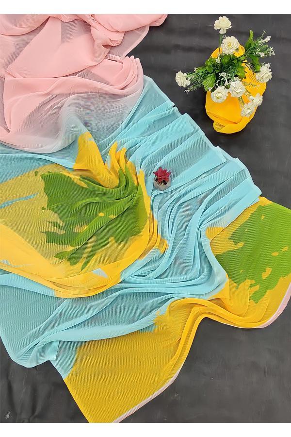 Deepika Padukone Yellow Saree KBC..