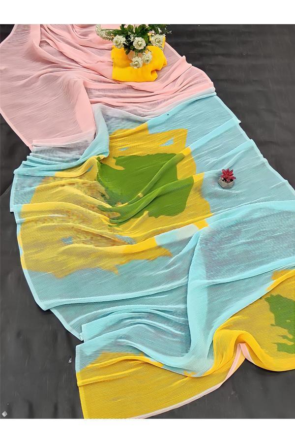 Deepika Padukone Yellow Saree KBC