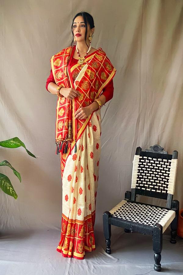 Durga puja ka new saree Collection