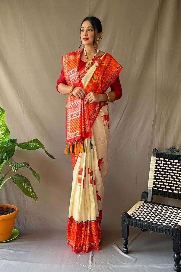 Durga puja saree collection 2021 Look (2)