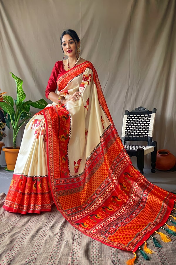 Durga puja saree collection 2021 Look Red