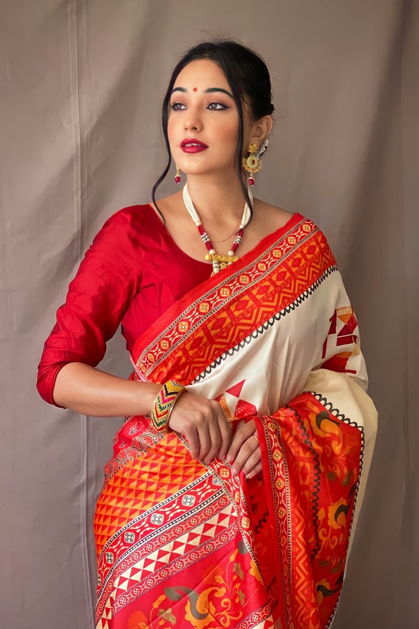 Durga puja saree collection 2021 Look