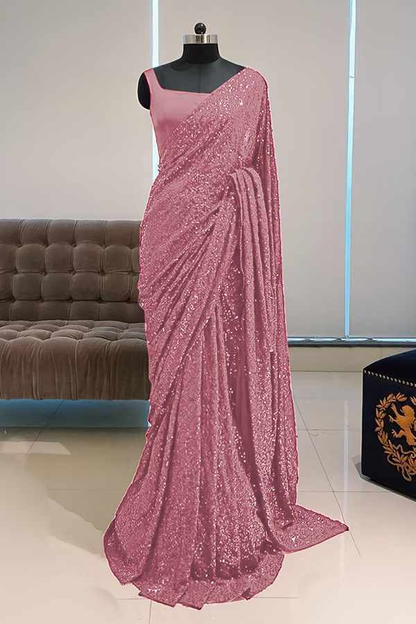 Georgette sequence Bollywood saree