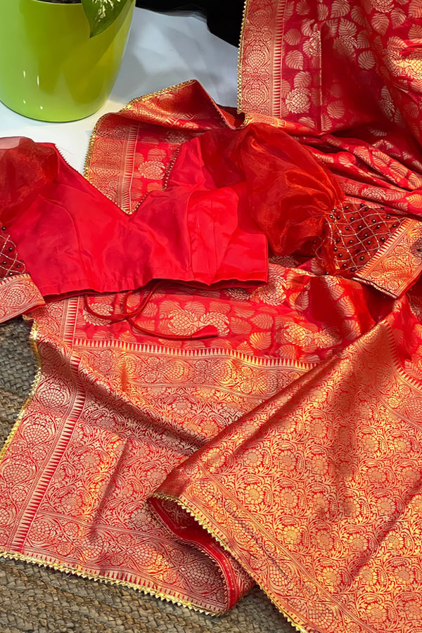 Karva Chauth special Saree 2021 Red Latest