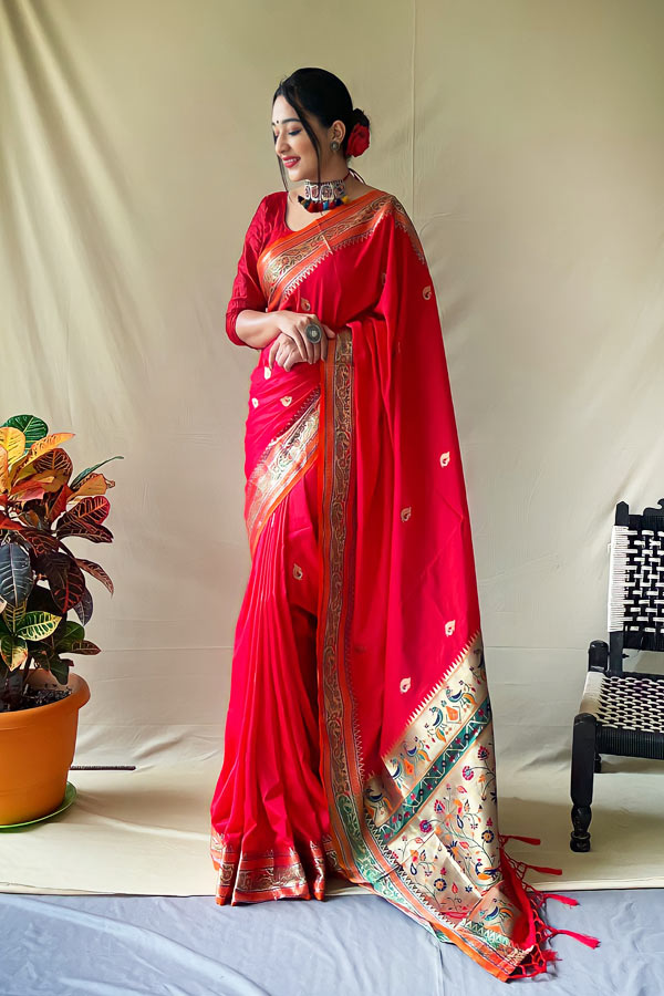 Karva Chauth special Saree 2021 Red online