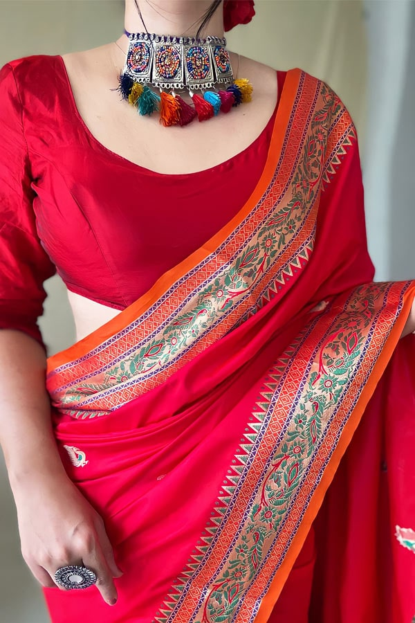 Karva Chauth special Saree 2021 Red